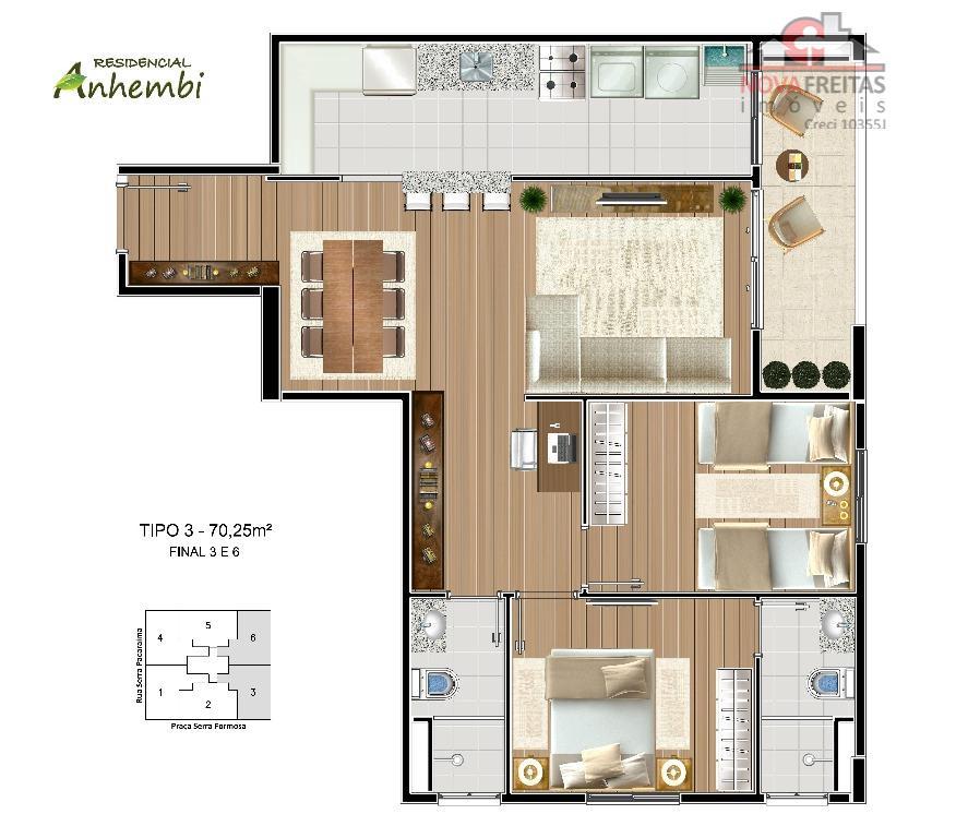 Apartamento de 2 dormitórios à venda em Jardim Anhembi, São José Dos Campos - SP