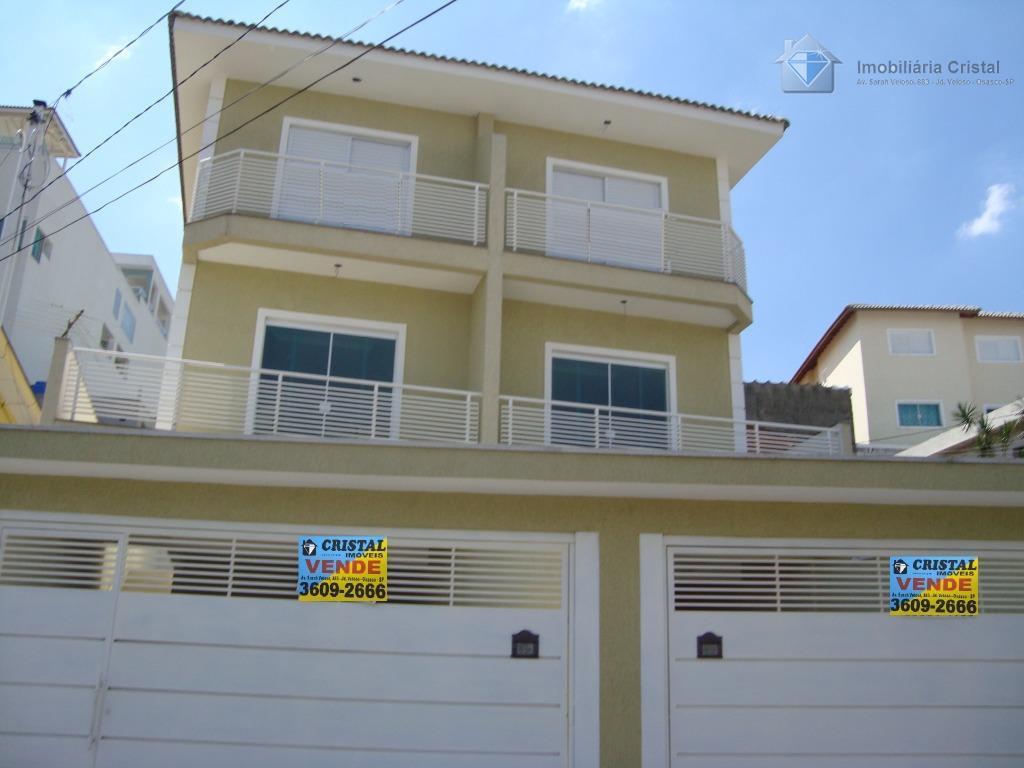 Sobrado residencial à venda, Bela Vista, Osasco - SO0418.