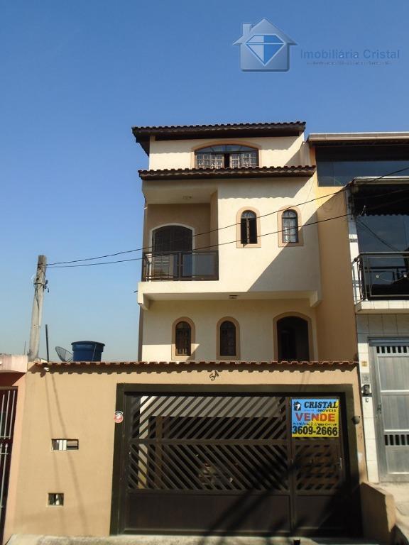Sobrado residencial à venda, Jardim Paulista, Osasco.