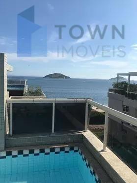 Cobertura com 4 dormitórios à venda Condomínio Varandas da Praia, 244 m² por R$ 1.350.000 - Camboinhas - Niterói/RJ