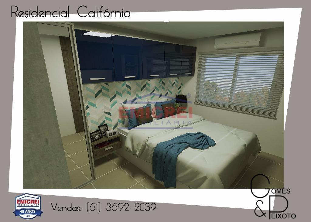2 dormitórios, churrasqueira, box 1 carro.porcelanato, forro em gesso (sala, cozinha e banheiro), massa corrida e...