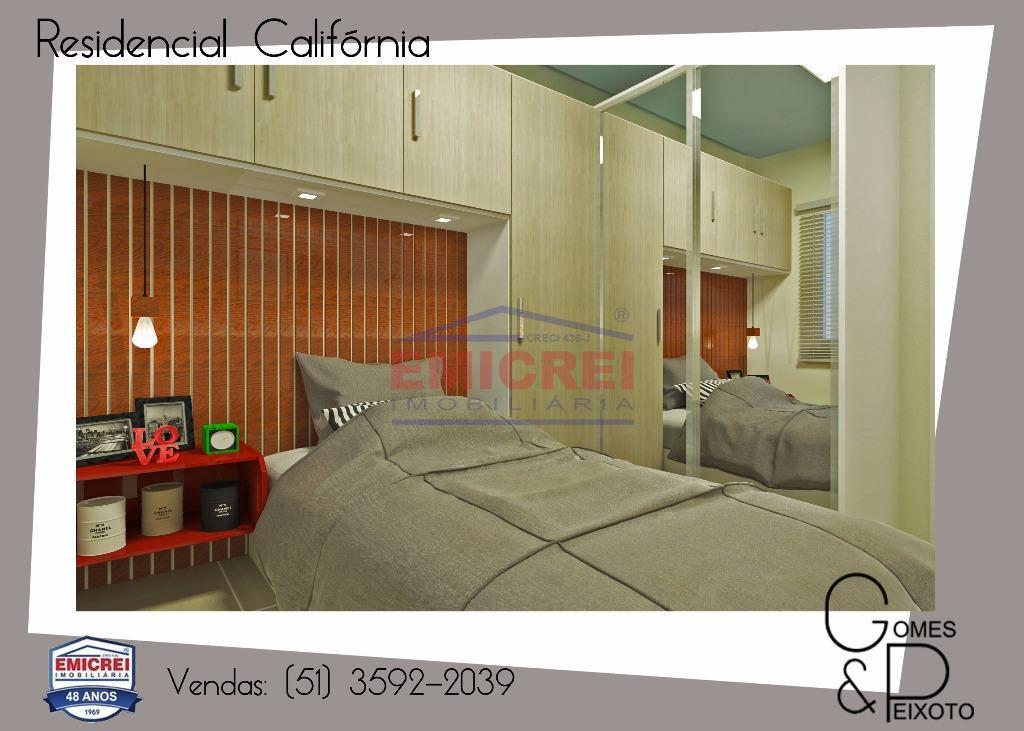 2 dormitórios, com churrasqueira, 1 vaga para carro.porcelanato, forro em gesso (sala, cozinha e banheiro), massa...