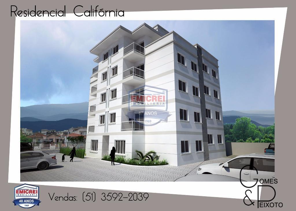 Apt Cobertura Duplex 2 dorm, 2 sacadas, terraço, churrasq, box1 car, porcelanato, massa corrida, b. Independência, São Leopoldo