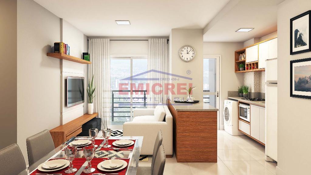 2 dormitórios, sala de estar/jantar, sacada com churrasqueira e vaga para 1 carro;opção de living estendido...