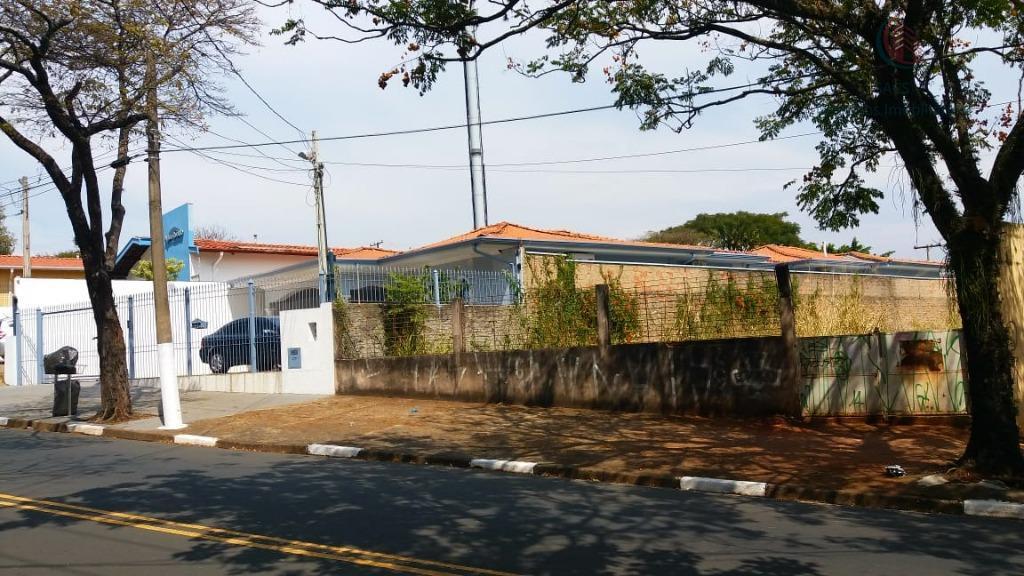 Terreno comercial para venda e locação, Jardim Brasil, Campinas.