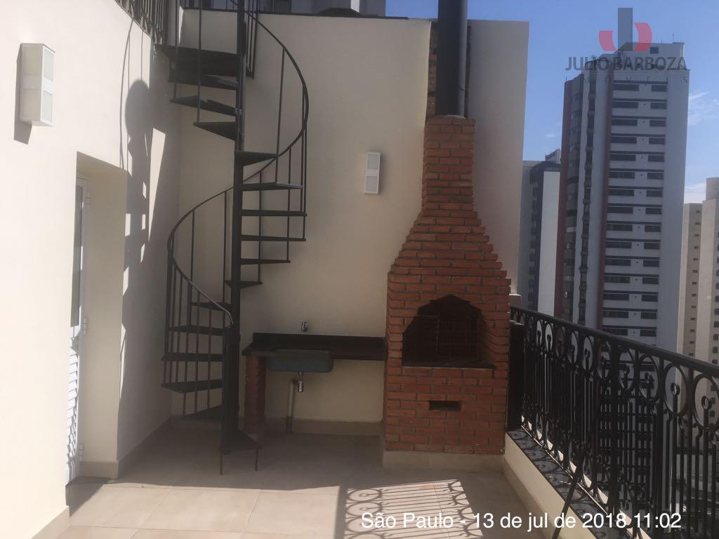 excelente oportunidade! cobertura para locação, composta por 3 dormitórios, sendo 2 suítes, sala, sacada com churrasqueira,...