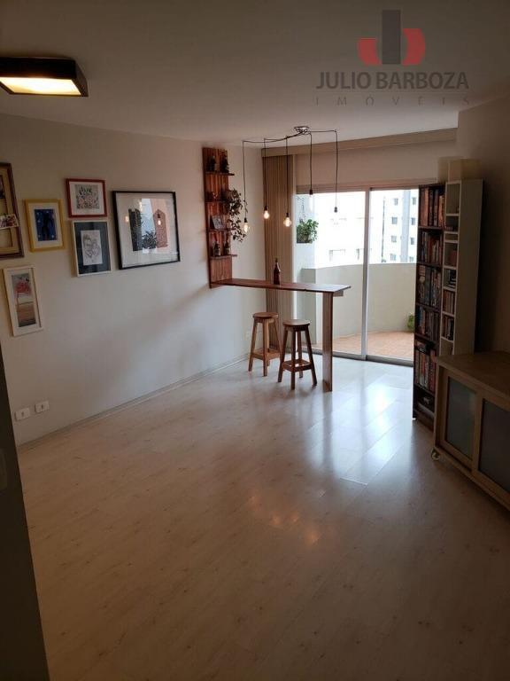 Apartamento com 3 dormitórios para alugar, 120 m² por R$ 4.500/mês - Moema - São Paulo/SP