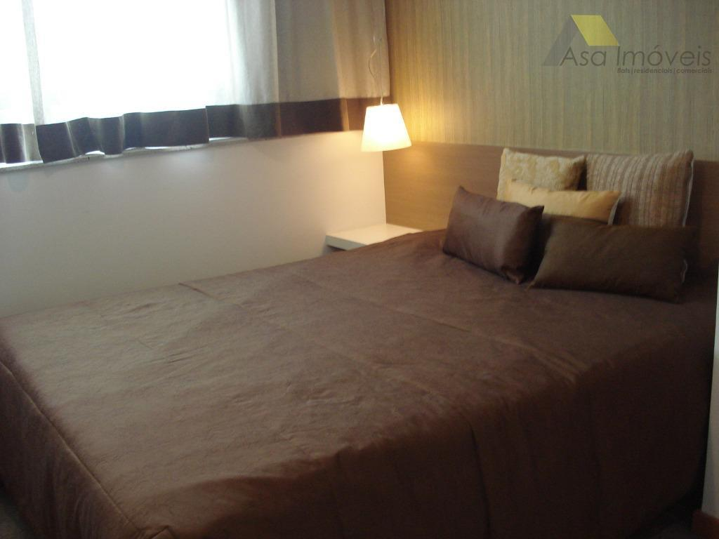 flat 2 ambientes, sala mobiliada cozinha americana com armários frigobar mesa de jantar c/ 02 cadeiras...