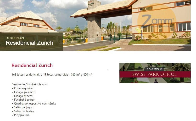 Terreno em Swiss Park, Campinas - SP
