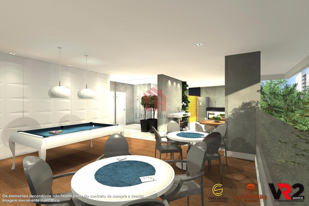 Apartamento residencial à venda, Centro, São Vicente - AP1312.