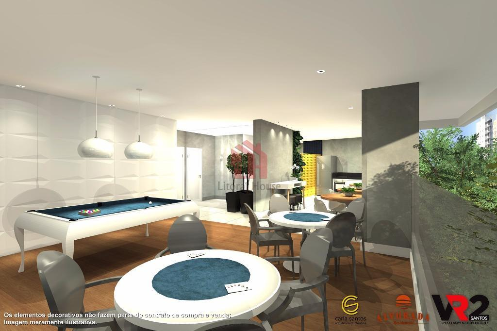 Apartamento residencial à venda, Centro, São Vicente - AP1313.