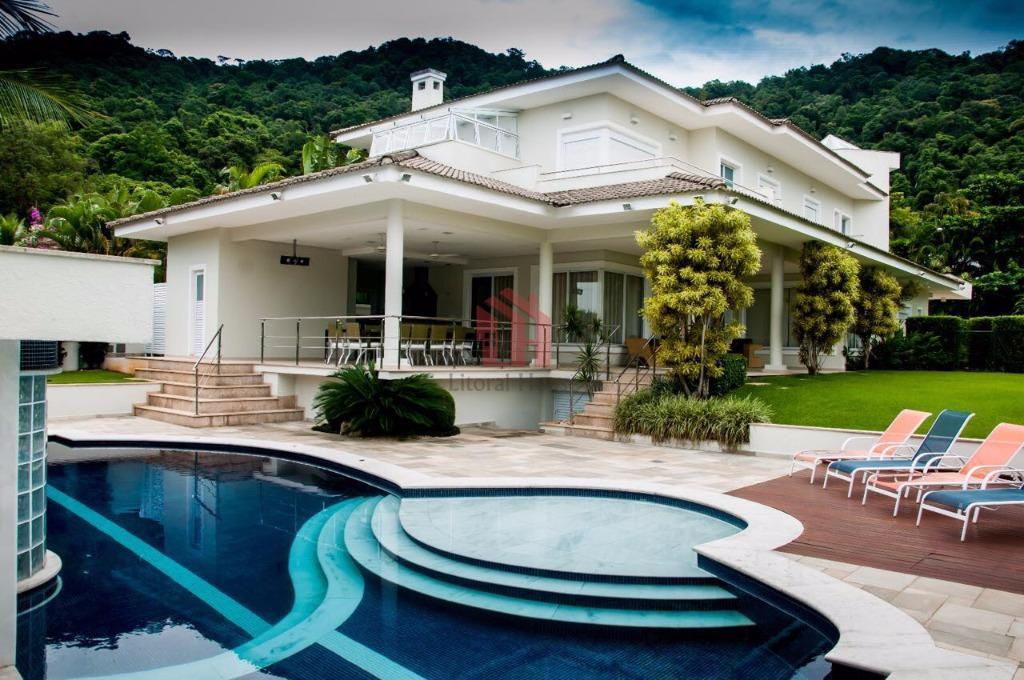 Casa com 5 dormitórios à venda, 650 m² por R$ 4.500.000,00 - Balneário Cidade Atlântica - Guarujá/SP