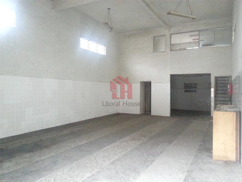 Galpão comercial para venda e locação, Chico de Paula, Santos - GA0009.