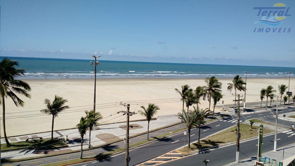 Apartamento 3 dormitórios, 1 suíte, frente ao mar na Guilhermina, em Praia Grande
