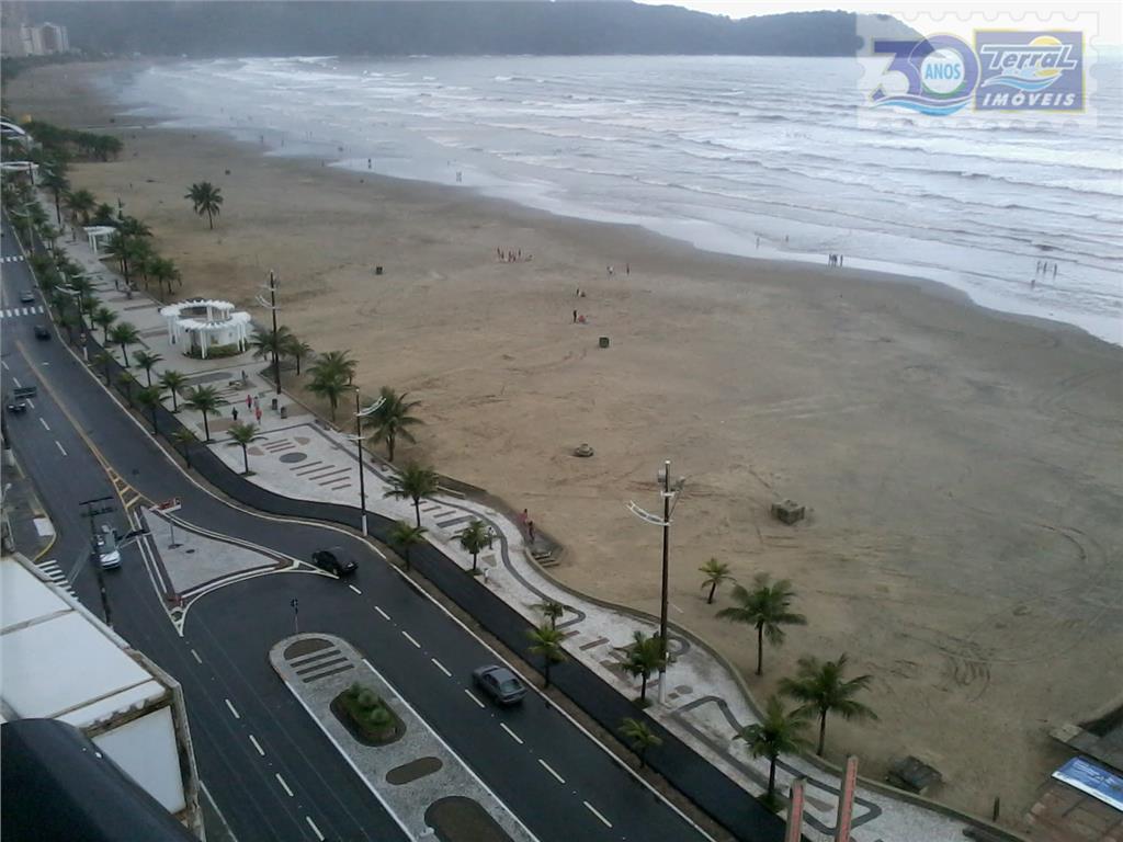 Apartamento  residencial à venda 1 dorm com vista para o mar Guilhermina, Praia Grande.