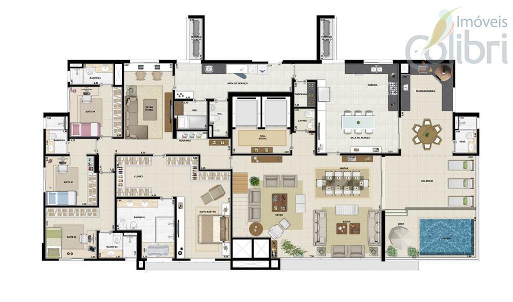 Planta - Penthouse 395,15 m²