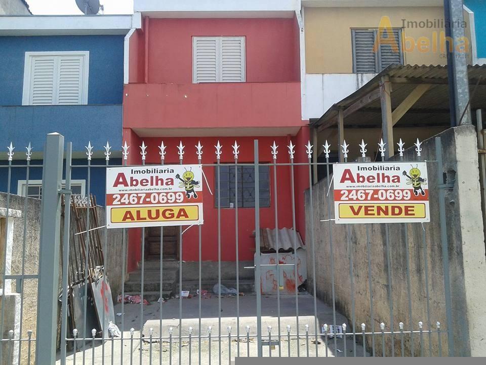 Sobrado residencial para venda e locação, Parque Santos Dumont, Guarulhos.
