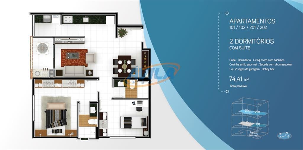 o residencial punta ballena está localizado no tranquilobairro rio tavares, que possui uma excelente estruturade serviços,...