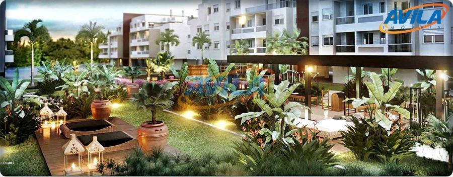 apartamento 2 dormitório, 1 suíte, lavabo, sacada com churrasqueira. condomínio com infraestrutura completa, projeto com lindo...