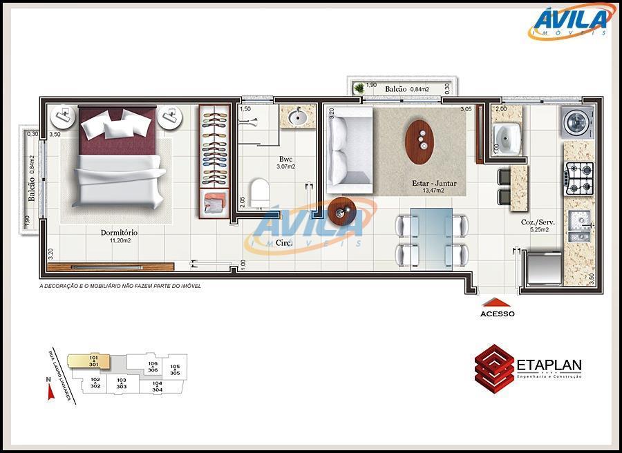 pré lançamento na trindade para investidores. apartamentos com 1 dormitório ( 39 m² a 41 m²)...