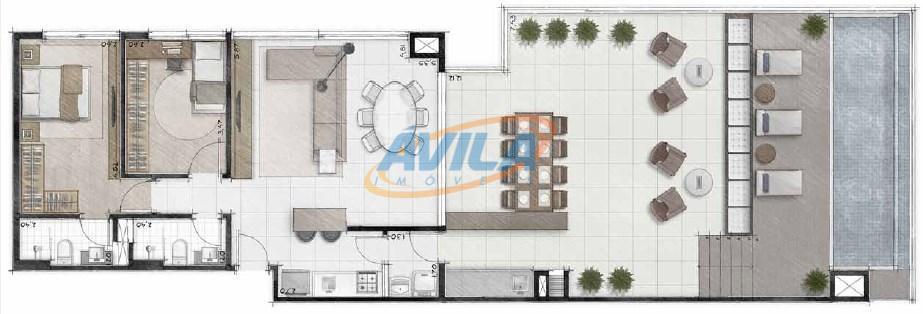 linda cobertura nova, com 2 dormitórios sendo 1 suíte, 2 vagas de garagem, super bem localizada...