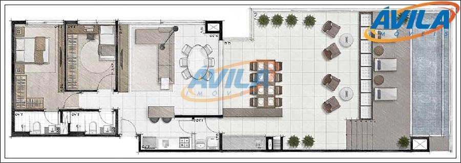 linda cobertura nova com 2 dormitórios, sendo 1 suíte, 2 vagas de garagem, super bem localizado...