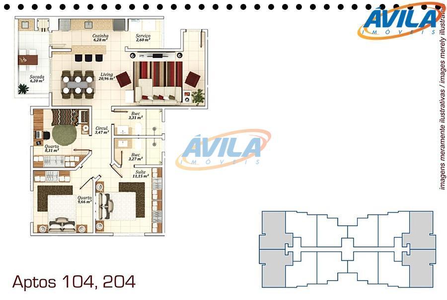 apartamento de 2 dormitórios, sendo 1 suíte, ampla sacada com churrasqueira. condomínio com infra estrutura completa....