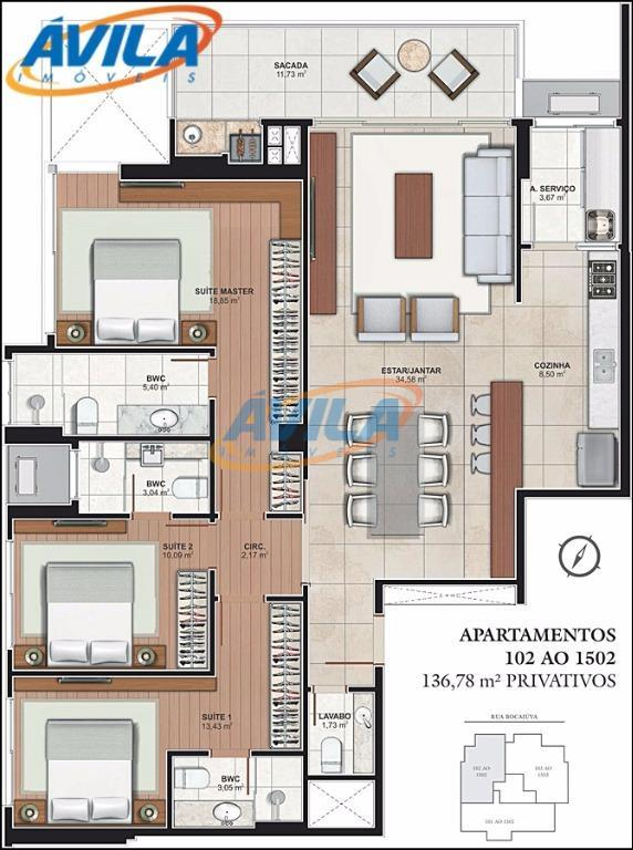 apartamentos com até 139 m² privativos na bocaiúva, no setor mais exclusivo do centro de florianópolis,...