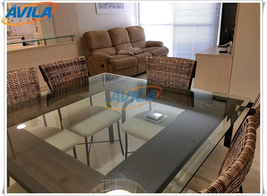 apartamento mobiliado, com armários em todos os cômodos, ar condicionado, cozinha completa, churrasqueira, 2 vagas, etc....