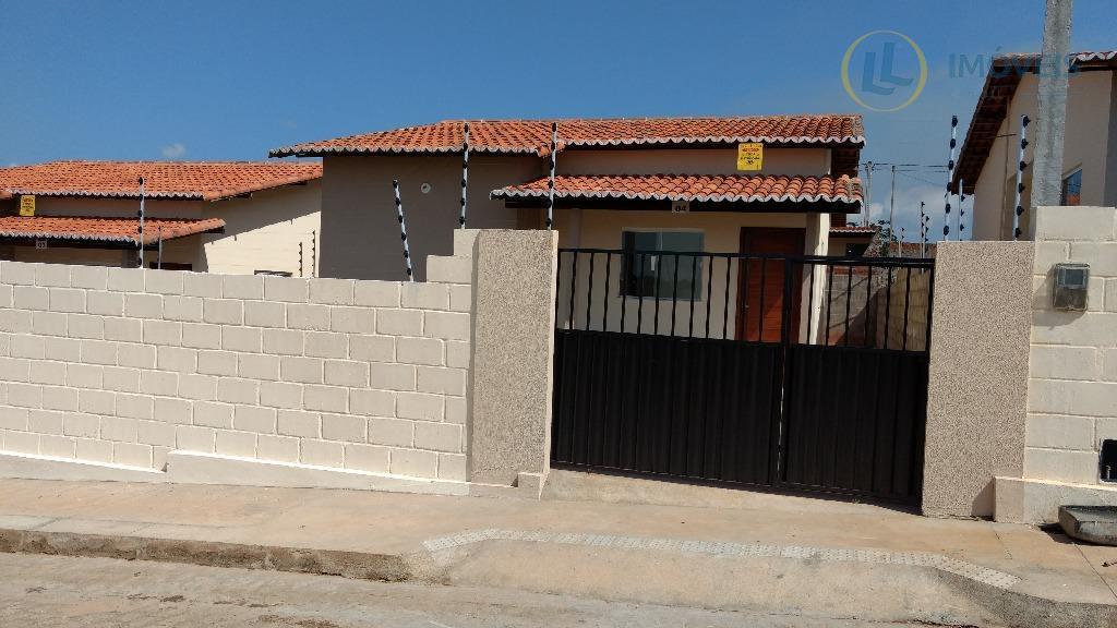 Casas de 65 m² com dois quartos, sendo uma suíte