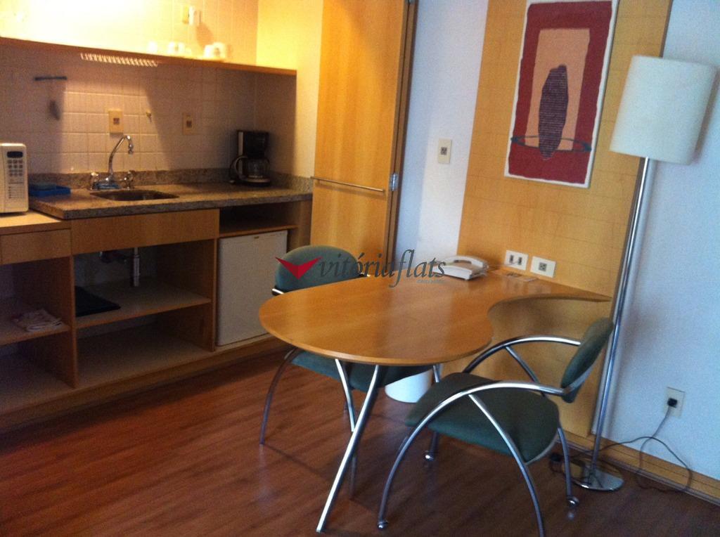 Flat residencial para locação, Moema, São Paulo.
