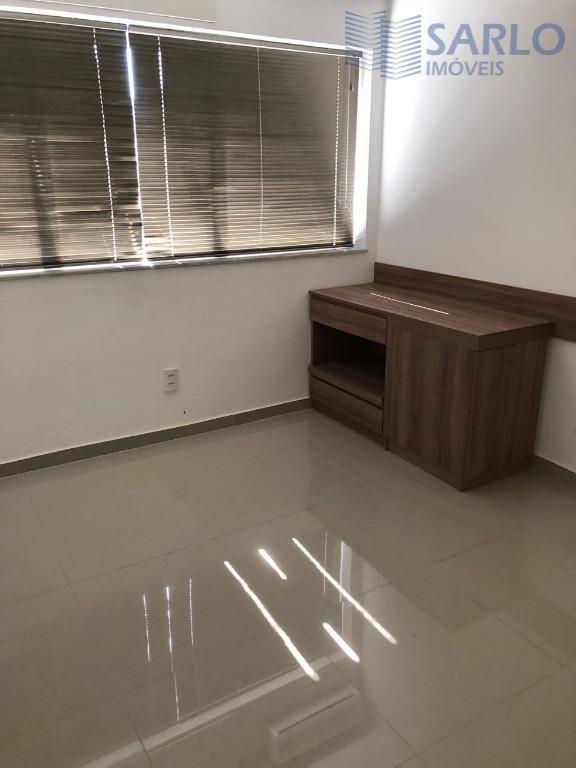excelente conjunto com 02 salas conjugadas, cada sala com 30m², montada, piso em porcelanato, ar condicionado.02...
