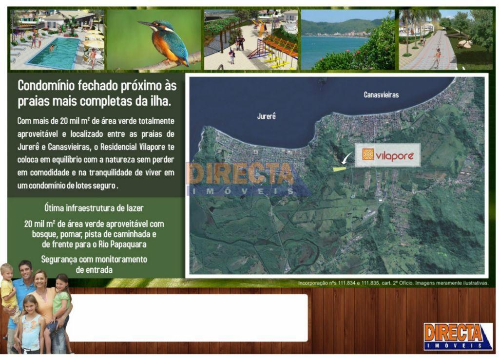 Terreno residencial em condominio fechado em Canasvieiras, Florianópolis.