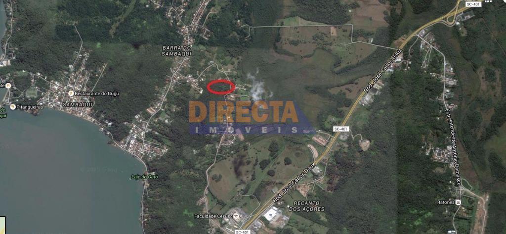 ótima oportunidade!!! terreno com 2500m² em sambaqui, com viabilidade para residencia com escritura publica. no terreno...