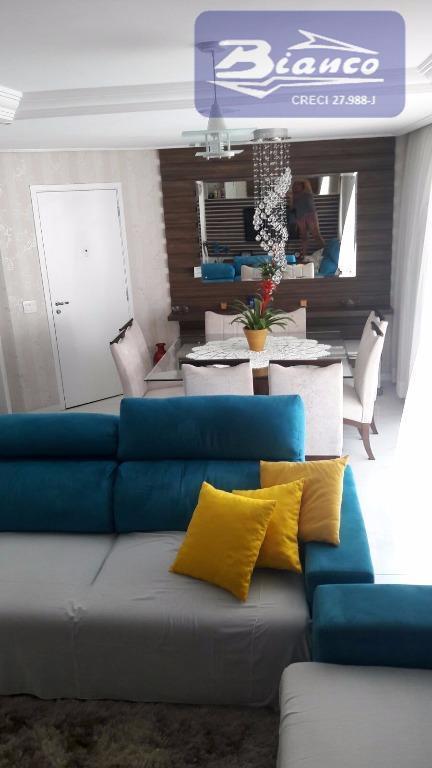 magnifico imóvel rico em armários e fino acabamento contendo 3 suites, sala 2 amb., dems. dps....