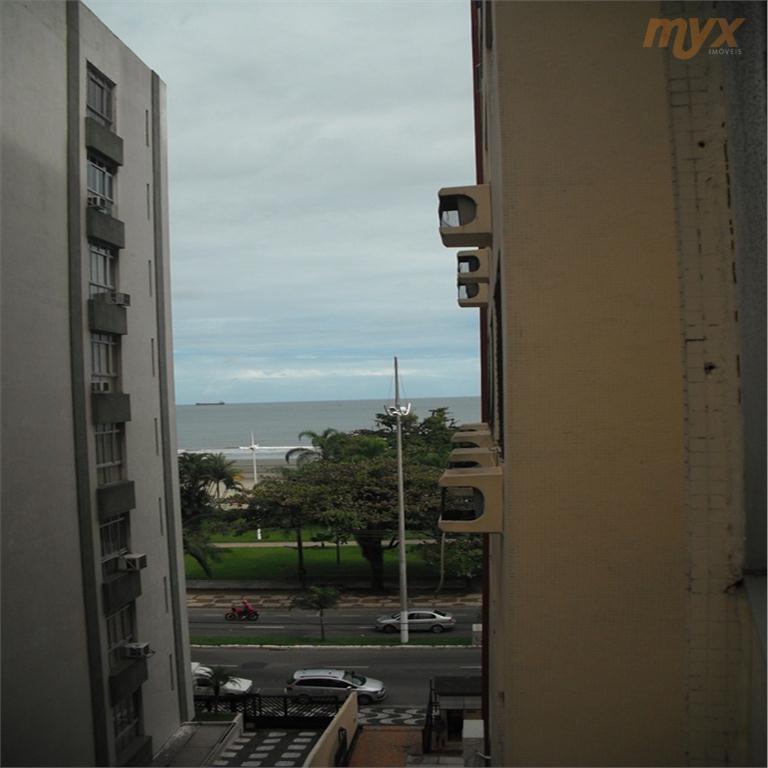 *mobiliado - suíte - prédio frente mar - vista parcial praia