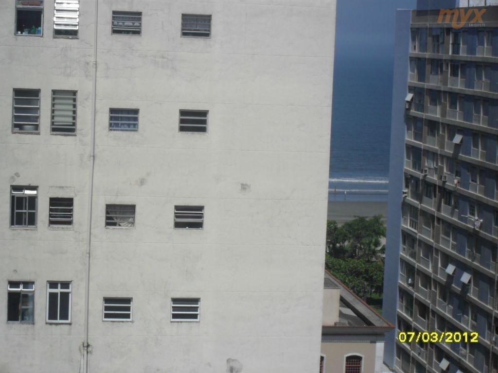 excelente kitchnet reformado, piso frio com vista para mar, meia quadra da praia, andar alto. financia...