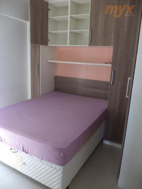 aparecida - andar alto - vista livre -excelente 3 dorms, suíte, sala com sacada e churrasqueira,...