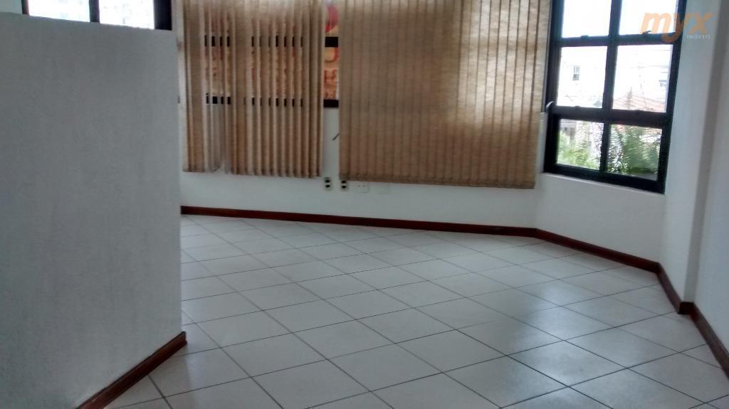 aparecida - conjunto comercial/sala - 100m² (com opção de criar vários ambientes), amplo, arejado e iluminação...