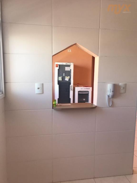 são vicente - centro - prédio com elevador - reformado - 1 dormitório, sala, cozinha, wc,...