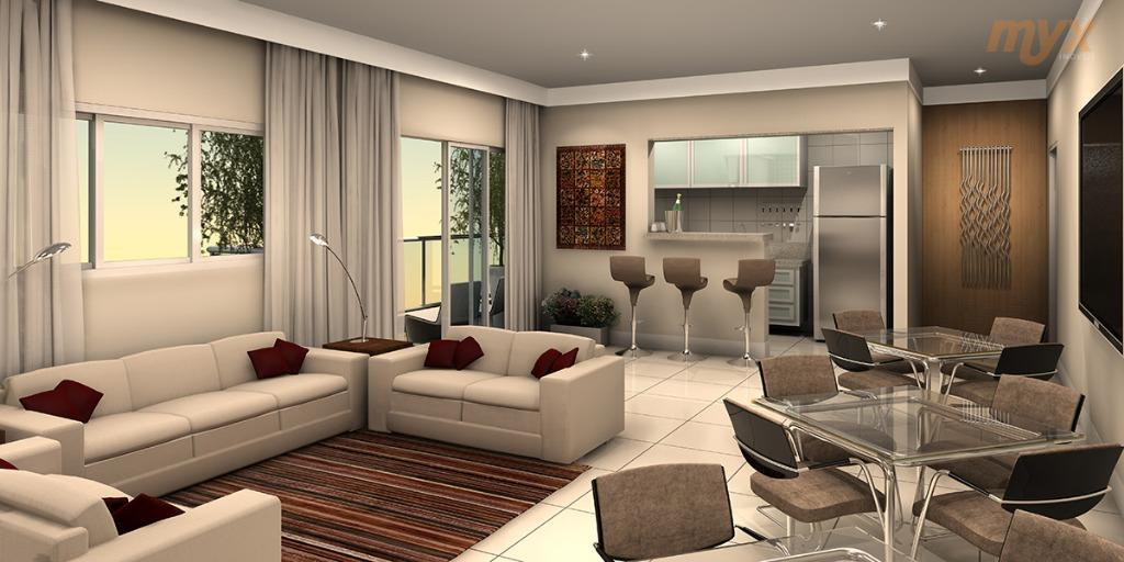 venha morar no embaré - prédio novo, andar alto a 2 quadras da melhor praia de...
