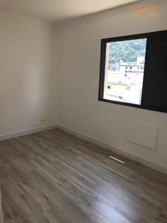 residencial com vista livre santos - marapé, 85 metros área útil - 02 quartos sendo 01...