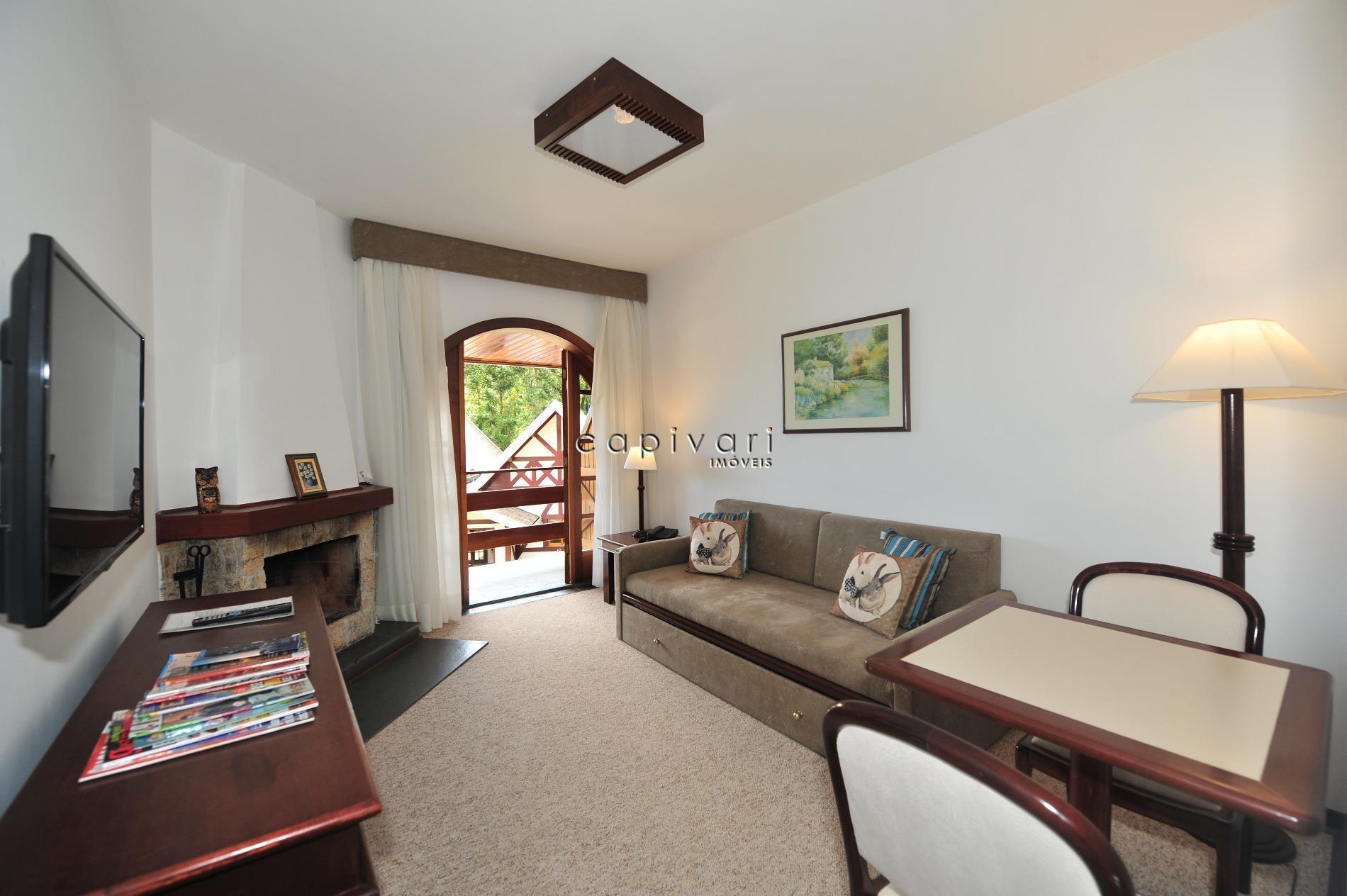 Flat residencial à venda, Alto Do Capivari, Campos do Jordão.