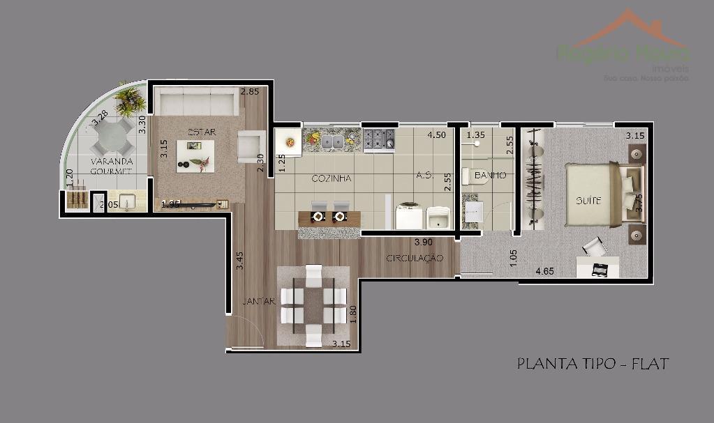 Flat residencial à venda, Centro, Alfenas.