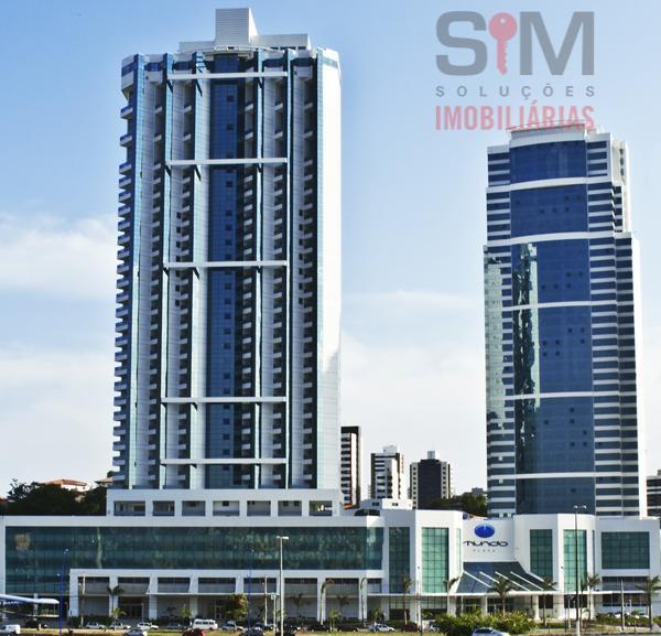 Apartamento 1/4 residencial mobiliado e com hidromassagem, ed. Mundo Plaza, Caminho das Árvores, Salvador.