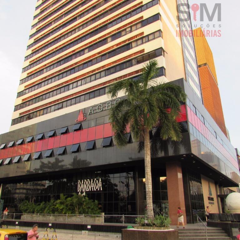 Sala 30m2, alta, nascente e ventilada - Av. Tancredo Neves, Salvador