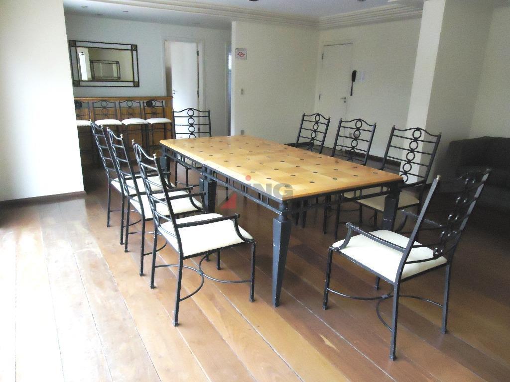 lindo apartamento de 220 m² de área útil, com 02 dorms, 02 suites e 03 vagas.sala...