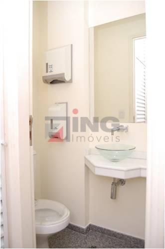 conjunto comercial com 30 m² de área útil / piso em granito / recepção: sala vão...