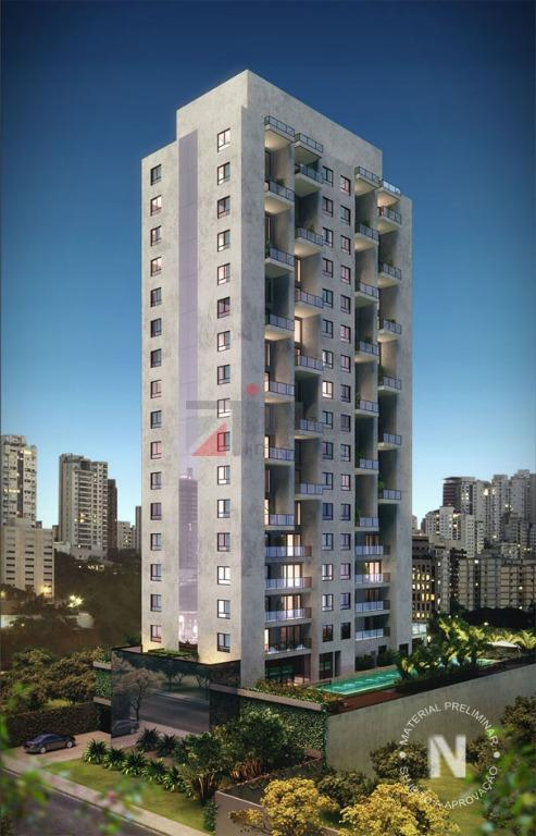 excelente apartamento à venda na vila olímpia, edifício semi novo (ano 2014).conceito moderno em uma das...