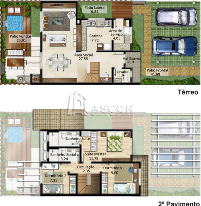 Casa 3 Dorm, Morro das Pedras, Florianópolis (CA0177) - Foto 20